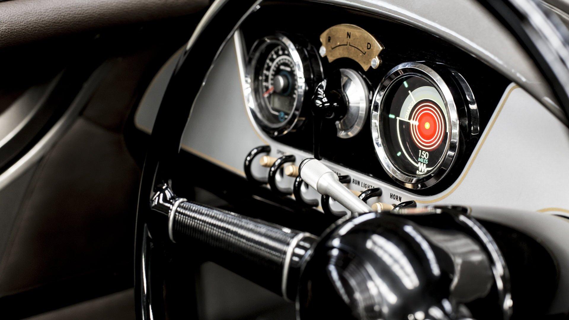 Instrumentpanelen i Morgan EV3